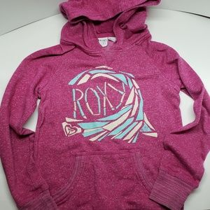 Roxy Girl Hoodie Sweatshirt Pink size Medium